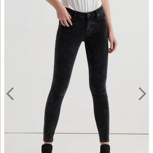 Lucky Brand Ava Midrise Skinny Velvet Pant